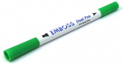Emboss Dual Pen Light Green