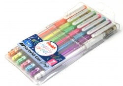 Pentel Hybrid Gel Grip Pastel 7 Pack [K118L-7]